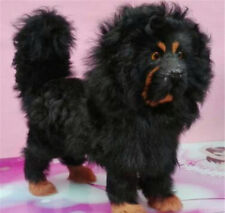 2018 Simulated Tibetan Mastiff Plush Toys Realistic Black Dog Doll Gifts Props