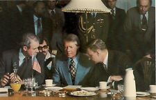 President Jimmy Carter at Meeting in India Postcard 1978