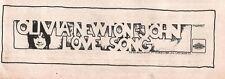 "Toomorrow (OLIVIA NEWTON-JOHN) Without Your love 1970 UK Press ADVERT 12x4"""
