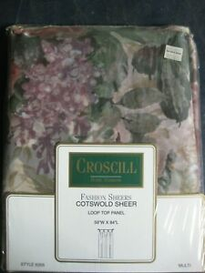 CROSCILL FASHION SHEERS  COTSWOLD  STYLE 8358 MULTI FLORAL NOS