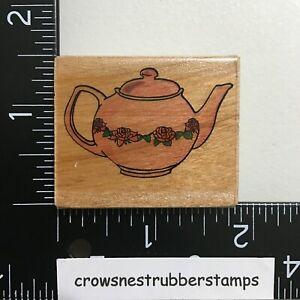Teapot Wood Mounted Rubber Stamp Tea Pot