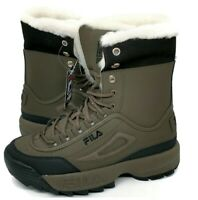 Fila Disruptor Shearling Lined Boots Brown Black Boots,Women's Size 11,New