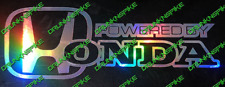 POWERED BY HONDA CIVIC TYPE R EP3 OR FN2 / FK2 STICKER CAR OIL SLICK FX COLOURS