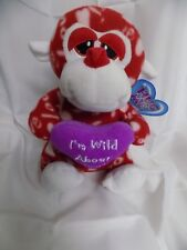 "2012 SUGAR LOAF TOYS BOYS/GIRLS HUG ME RED MONKEY I'M WILD ABOUT YOU 11"" NWT"