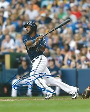 HECTOR GOMEZ signed 8x10 photo MILWAUKEE BREWERS COA A