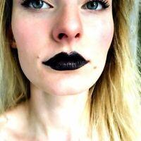 LAVAL Black Lipstick Goth Gothic Halloween Fancy Dress Lips Beauty Women