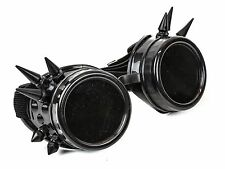 Black Steampunk Chrome Motorcycle Flying Goggles Vintage Pilot Biker