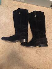 Frye Women's Black Suede Melissa Button Boots 7