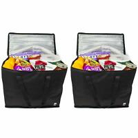 Insulated Grocery Bag - Reusable Grocery Bags - Foldable with Zipper Top