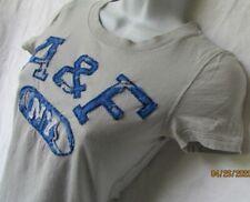 Abercrombie & Fitch Women S T-shirt Lightweight Cotton Textured Gray Blue A & F