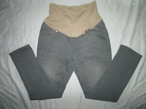 Women's OLD NAVY Maternity Gray Skinny Full Panel Denim Pants Jeans Size 10