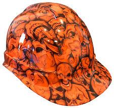 Hard Hat Hi Vis Orange Insanity Skulls w/ Free BRB Customs T-Shirt