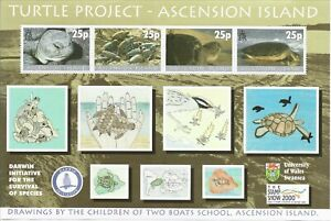 Ascension Island - 2000  - Mini Sheet - Turtle Project - MNH