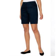 Karen Scott Tie-Hem Bermuda Shorts, Intrepid Blue, 18 NWT