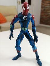 "2002 Soak N Toss Blue Spider-Man 6"" Toy Biz Action Figure Marvel"