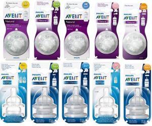 Philips Avent Natural, Classic+ Milk Bottle Teats Newborn Slow Medium Fast Flow