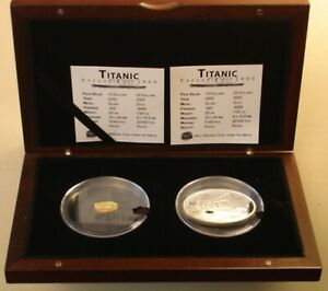 Liberia Titanic 25$ Gold & 10$ Silver 2005 Proof Coin Set with Box & CoA