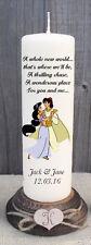 CANDELA Regalo Di Nozze Personalizzata Disney Aladdin Jasmine caratteristica principale grazie