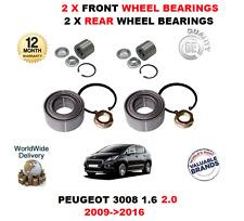 pour Peugeot 3008 1.6 2.0 2009-2016 NEUF 2 x AVANT + 2 ROUE ARRIÈRE PALIERS KIT