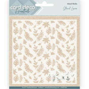 Card Deco/Leaves/Mylar/Embossing/Stencil/Background/CDEST009