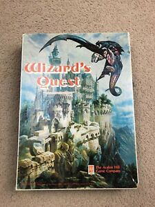 WIZARDS QUEST - AVALON HILL - VINTAGE BOOKSHELF BOARD GAME - 1979