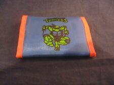 Teenage Mutant Ninja Turtles TMNT Raphael Blue Retro Kid's Velcro Wallet 1990s
