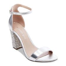 78e15eeafb6e Madden Girl Bangg Women s Sandal Chunky High Heel Silver