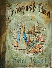 Primitive Vintage Peter Rabbit Bunny Book Print 8x10 Nursery Birthday Prop