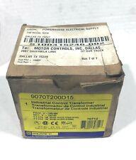 SQUARE D 9070T200D15 Control Transformer 240/480 24/120 0.2 kVA 50/60 Hz