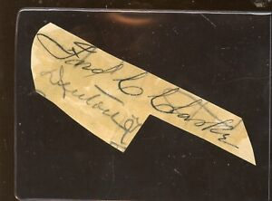 Fred C Clarke HOFER Signed Cut JSA LOA