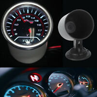 Auto KFZ Voltmeter Batteriespannung LED Anzeige Instrument + Instrumentenhalter