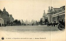 CPA PARIS EXPO 1900 - Avenue Nicolas II (307572)