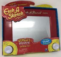 Original Classic Red Etch A Sketch Magic Screen, Kids Drawing Toy!