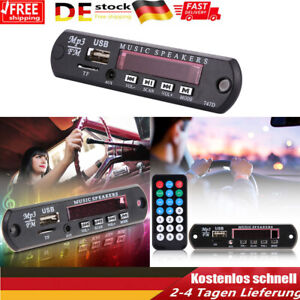 12V MP3 WMA FM AUX Decoder Modul Audio TF SD Card USB Radio KFZ + Fernbedienung