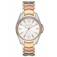 Nuevo Michael Kors MK6686 Whitney Tri Tone Stainless Steel Band Reloj de Mujer