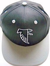 ATLANTA FALCONS ADULT SNAPBACK FLAT BILL BLACK & GRAY CAP HAT W/ THROWBACK LOGO
