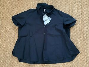 NWT Aspesi Navy Collar Button Down Shirt Size 38