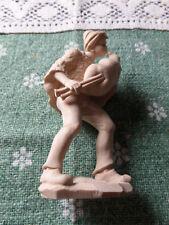 Krippen Figur Dudelsack Bläser natur 11cm Holz