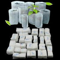 100pcs Biodegradable Non-woven Nursery Bags Plant Grow Seedling Planting Pots