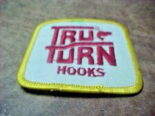 1970s Tru Turn Fishing Hooks Patch Great 2 Inch X 2 Inch Size Very Clean Look