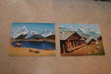 2 ça 1990 Oil Paintings on Board Switzerland  by Stuart Jones