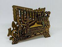 Napkin Holder, Shalom Peace & Jerusalem Temple Menorah, Israel