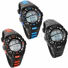Men's Women's Casual Multifuction Rubber Band Digital Sport Wrist Watch Watches