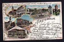 112578 AK Fürstenwalde Spree 1898 Litho Gymnasium Rathaus Domkirche Kaiserplatz