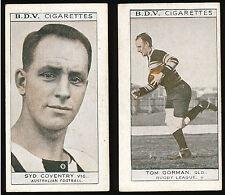 1933 Syd Coventry BDV Cigarette card Tom Gorman back Football Rugby League