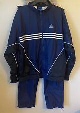 VINTAGE Adidas Team XL 3 Stripe Tracksuit Sweatsuit Jacket & Athletic Pants Mens