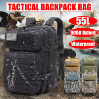 55L Men Large Military Tactical Backpack Camping Cycling Hiking Travel Sport