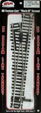 "Atlas #281  ""Mark 3"" #4 Left-Hand Turnout Track,  HO Scale, Code 100 Rails"