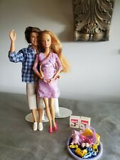 Pregnant Midge Barbie Doll Happy Family Baby Bump Alan and accessories