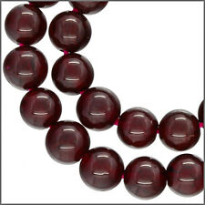 "15.5"" Natural Red Garnet Round Beads 6mm #67006"
